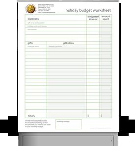 SFS Holiday Budget Worksheet